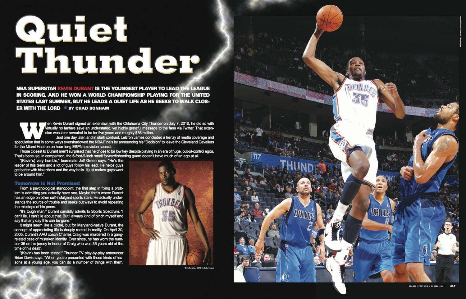 Kevin Durant Quote From The Archives  Kevin Durant  Sports Spectrum Magazine