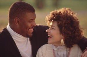 UNITED STATES - NOVEMBER 14: Football: Closeup portrait of Philadelphia Eagles Reggie White and wife, Philadelphia, PA 11/14/1989 (Photo by Bill Ballenberg/Sports Illustrated/Getty Images) (SetNumber: X39108 TK1 R4 F1)