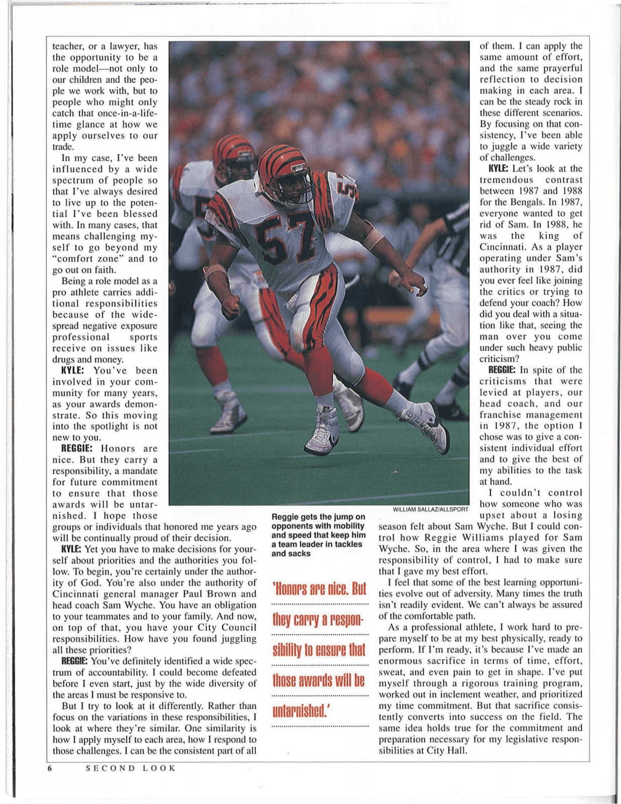 Throwback Thursday Reggie Williams May June 1989 Sports